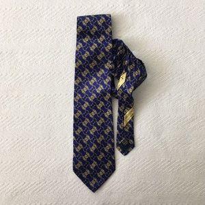 Valentino Royal Blue Silk Printed Men's Tie